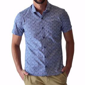 Camisa Hombre Casual Manga Corta Azul Varios Rack   Pack ca34c20aea8