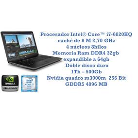 Laptop Arquitectura I7-6820q Video 4gb Nvidia Ram 32gb