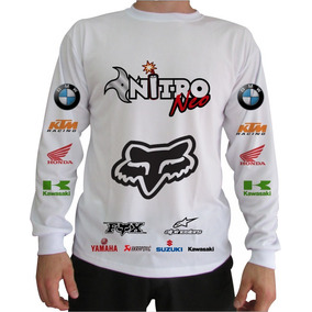 Camisa Manga Longa Para Moto Cross - Camisetas e Blusas no Mercado ... 85dbb0fcd53