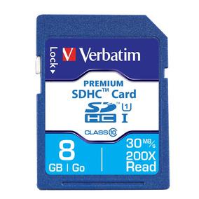 Tarjeta De Memoria Premium Sdhc 8 Gb Clase 10 Verbatim 96318