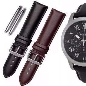 Pulseira Couro Relógio Fóssil 24mm Autêntica - Joias e Relógios no ... 46f682838f