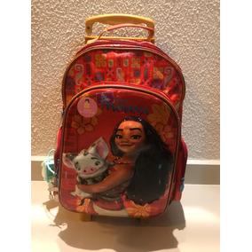 Mochila Escolar Infantil Moana Com Rodinhas Original