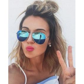 f4519a71eff8e Lindo Oculos Da Moda Azul De Sol - Óculos no Mercado Livre Brasil