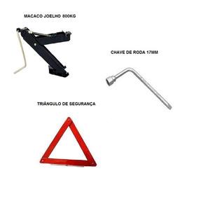 Kit Estepe Carro Macaco + Triângulo + Chave De Roda 17mm