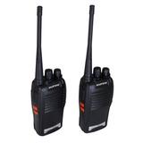 Kit 2 Rádio Comunicador Ht Walk Talk Baofeng 777s Uhf + Fone