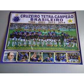 Poster Cruzeiro Tetra Campeão Brasileiro 2014 - 30x42cm