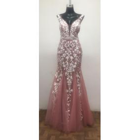 Vestidos largos rosas baratos