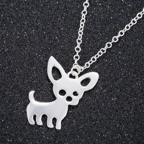 Set De Collar Dije Y Aretes Tiernos Chihuahuas Envío Gratis