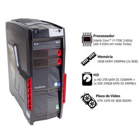 Pc Gamer Goldentec Core I7-7700 16gb 2tb Ssd240gb Gtx1070 8g