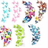 12 Mariposas Decorativas De Pvc Para El Adorno Del Hogar