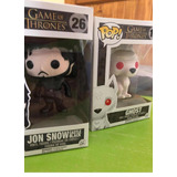 Funko Pop! Game Of Thrones - Jon Snow Y Ghost Set X2