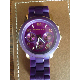 fdccc1f11dd67 Relogio Michael Kor Mk5324 Roxo - Relógio Michael Kors no Mercado ...