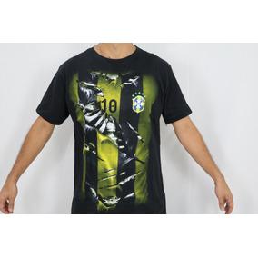 1 Camisetas Na Cor Preta Manga Curta - Gola Redonda G