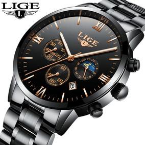 Relógio Masculino De Luxo Lige Importado