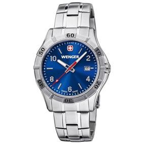 Reloj Wenger Platoon Carátula Azul Para Hombre