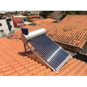 Aquecedor Solar Vacuo 450lts Acoplado+frete Gratis+ Barato