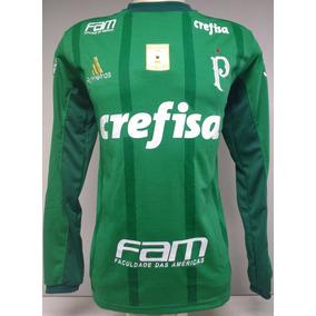e28b52fd0c Camisas Palmeiras Verde Branca Manga Longa 2018
