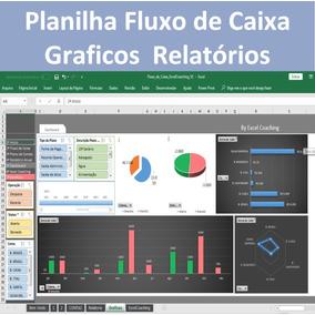 Planilha Fluxo De Caixa Com Relatório, Gráficos E Macros