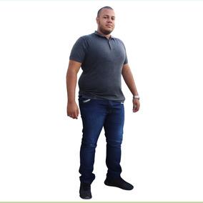 Kit Com 2 Calça Jeans Masculina Tamanho Grande Plus Size