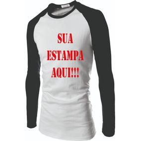 Camiseta Raglan Manga Longa Sua Imagem Personalizada 233c708c54577