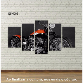 876deb9d9d8 Quadro Decora Harley Davidson Motor Cycle Canvas 114x65 5p
