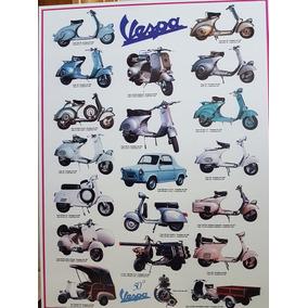Pôster Moto Vespa Quadro Moto Antiga