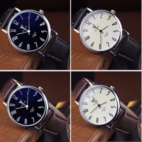Relógio Original Masculino Couro + Caixa Brinde