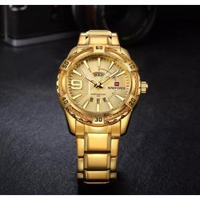 Reloj Analogo, Fechador Dorado