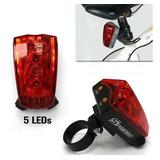 Lanterna Traseira Bike Com Laser E Led + Pronta Entrega