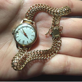 Reloj De Oro Mujer 18k Sin La Pulsera