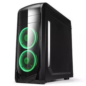 Gabinete Gamer Atx Pc Case F902b Negro Lateral Transparente