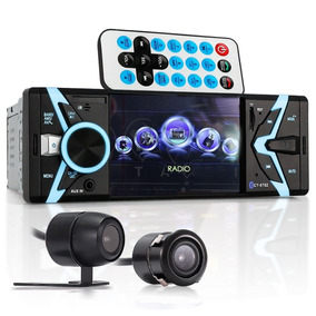 Radio Automotivo Bluetooth Mp5 Fm Player Tela 4 Camera Ré