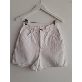 c41454fab4747 Short Mujer Jean Tiro Alto - Ropa y Accesorios Blanco