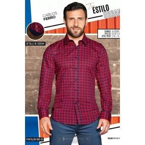 Camisa Cuadros Manga Larga P/caballero Cklass 976-03 Pv-19