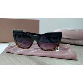 Óculos De Sol Miu Miu Preto tartaruga - Óculos no Mercado Livre Brasil 9ad80130c0