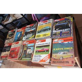 Revistas 4 Quatro Rodas Antigas Anos 60 70- Escolha 4 Ediçõe