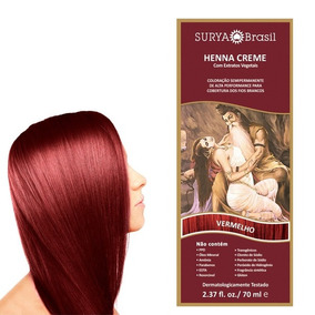 Tintura Henna Creme Vermelho Surya Brasil 70ml - 13.8.p