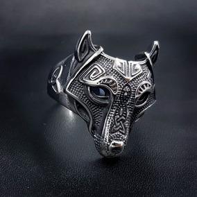 Anillo Lobo Vikingo Acero Inoxidable 316l