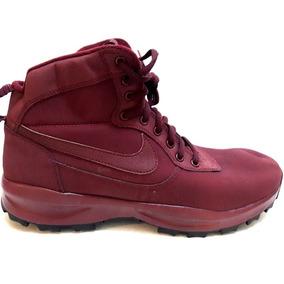 b4626382917 Botas Nike Air Manoadome Piel Y Gamuza Vino Waterproof Gym