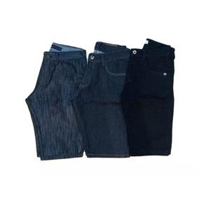 Promoção Kit 3 Bermuda Jeans Short Jeans Masculino