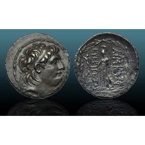 *wm* Antiochos Vii Ar Tetradrachm Seleukid Kings.138/129 Ac