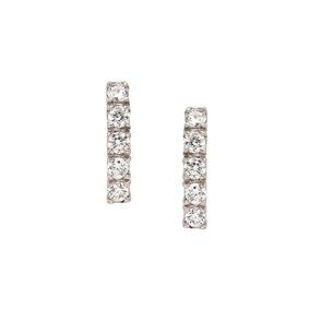 d055f6e67c1bf Brinco Argola Ouro Branco Diamantes Coleco Lumiere Vivara - Joias e ...