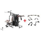 Multi Estação De Musculação Pro-deluxe + Kit Puxadores