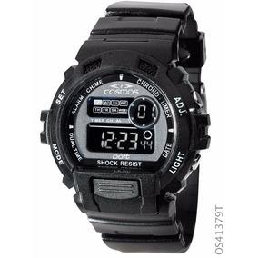 Relógio Esportivo Cosmos Digital Os41379t Cronógrafo Preto