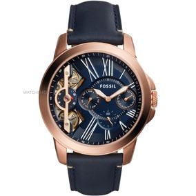 Reloj Fossil Twist Me1162 Piel Azul Para Caballero