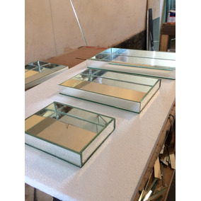 Kit 3 Bandejas Espelhadas Decorativa Direto Da Fabrica