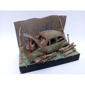 Fusca Tematico Em Metal Miniatura 1:36