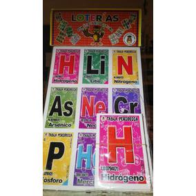 gcg juego de loteria didctico tabla peridica qumica