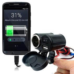 Adaptador Tomada Usb Carregador Para Motos Celular Gps V51