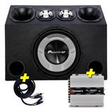 Caja De Audio Subwoofer Pioneer Sellada + Potencia Taramps